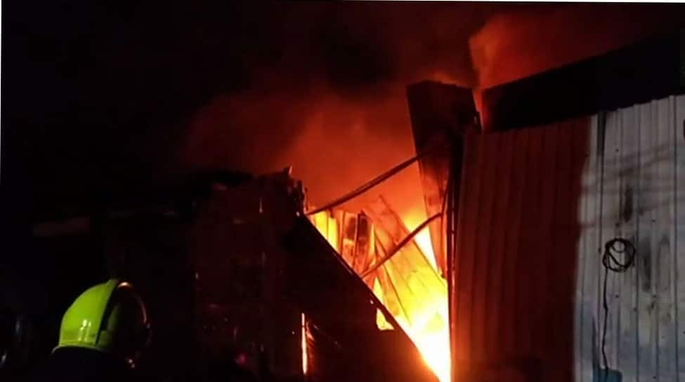 Mumbai: Fire breaks out in Malad's Industrial Estate, rescue operations on
