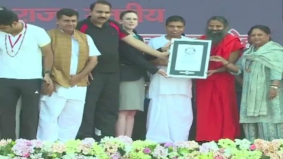 4th International Yoga Day: Kota creates world record with 2 lakh people performing yoga