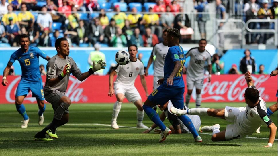 Brazil defeat Costa Rica 2-0, eye spot in FIFA World Cup 2018 pre-quarters