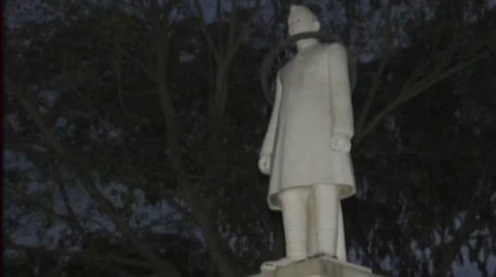 After vandalism spree, Jawaharlal Nehru statue disrespected in Rajasthan's Bundi