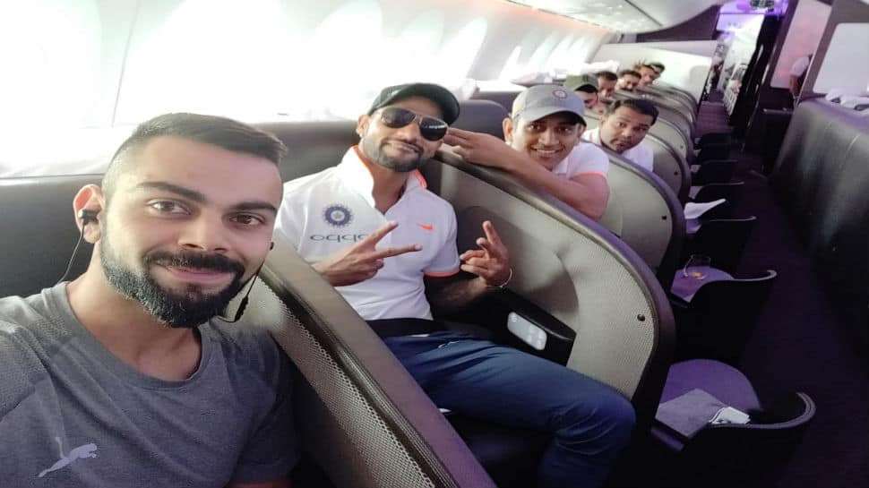 Smiles and selfies galore as Team India cricketers depart for long-drawn England tour