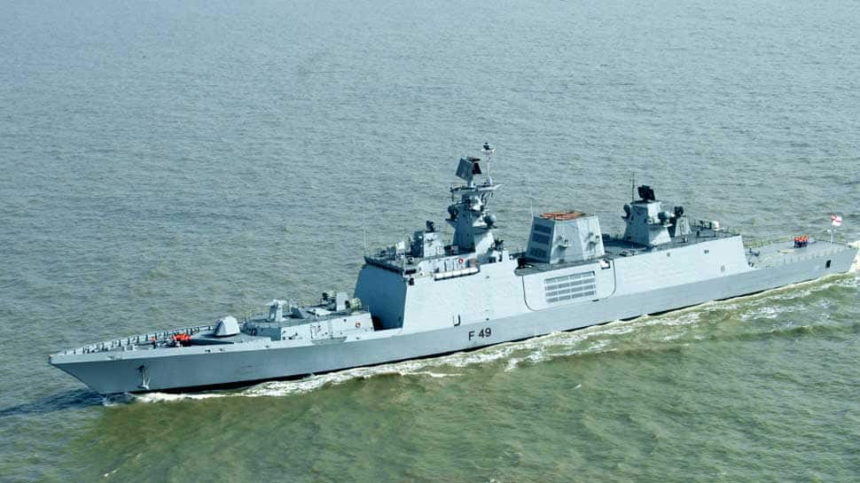 INS Sahyadri - India's indigenously built guided missile stealth Frigate - reaches Pearl Harbour for 'RIMPAC' 2018
