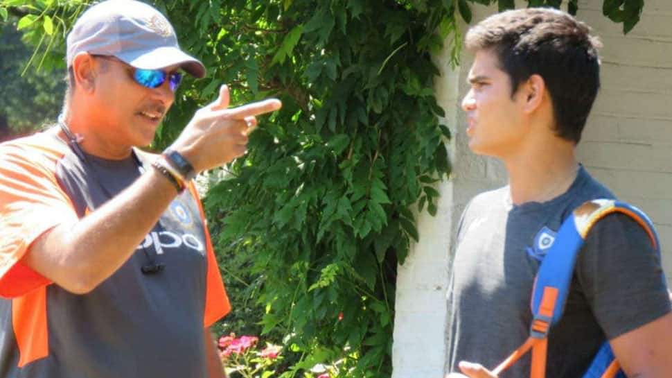 Arjun Tendulkar trains with India team, gets tips from Ravi Shastri