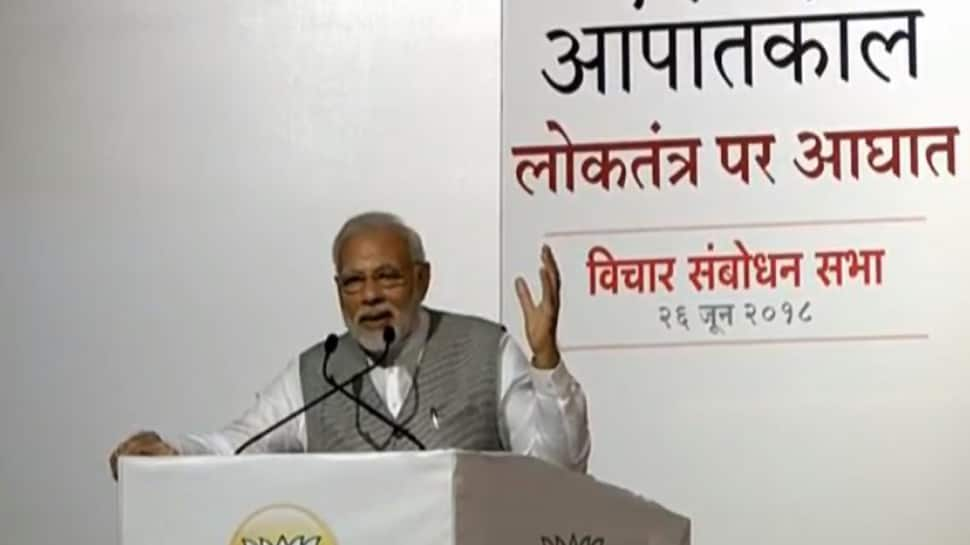 PM Narendra Modi launches scathing attack on Congress, Gandhi family for 1975 Emergency