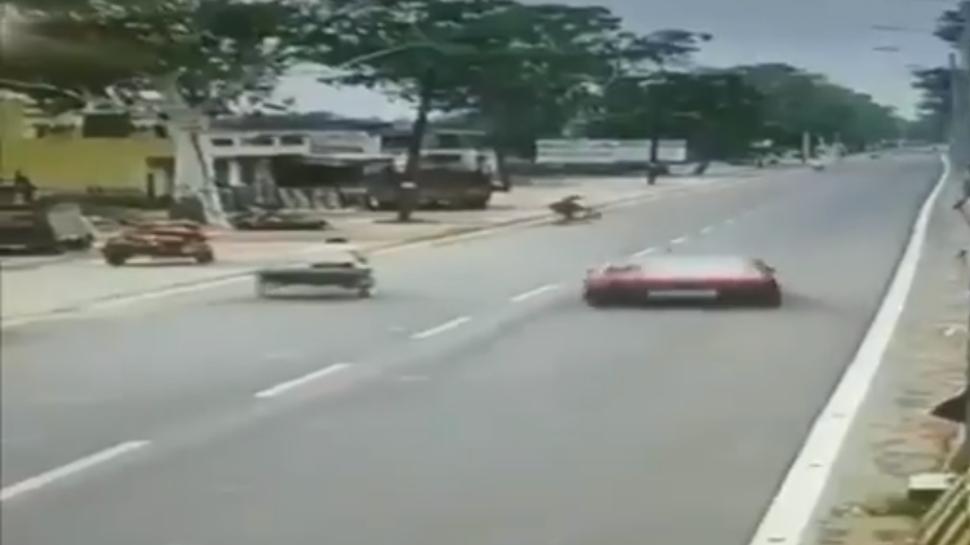 Speeding car hits girl in Muzaffarnagar, incident caught on camera