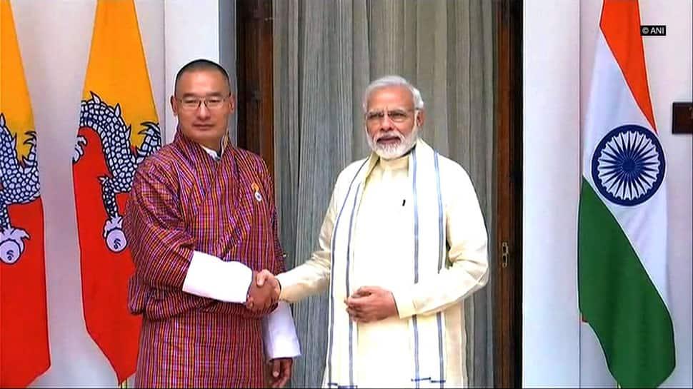 PM Narendra Modi meets Bhutan PM Dasho Tshering Tobgay