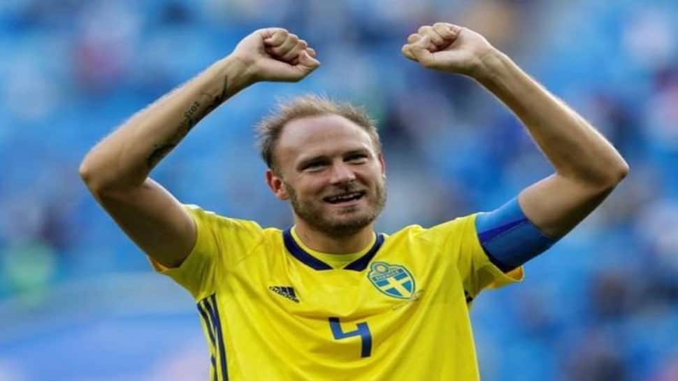 Sweden's Andreas Granqvist ready to answer England during FIFA World Cup 2018 quarters