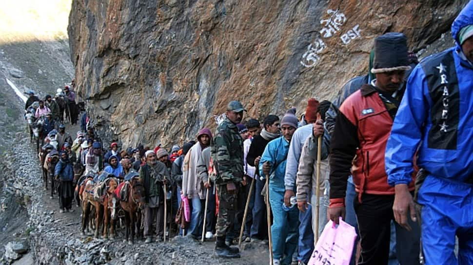 Batch of 2,203 pilgrims leave for Amarnath pilgrims
