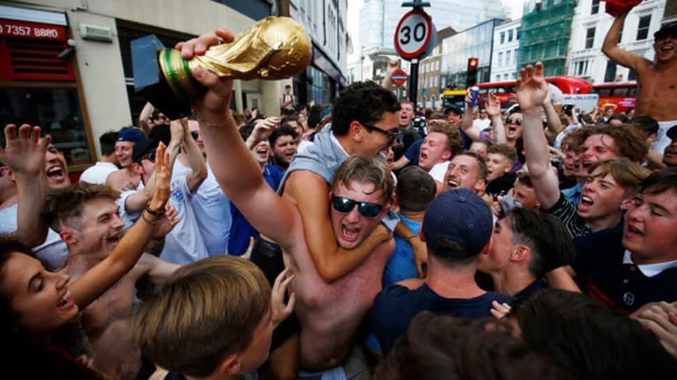 England erupts with joy as team reaches FIFA World Cup 2018 semi-final