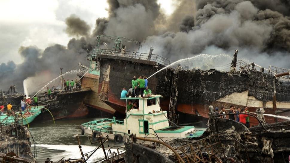 Massive fire rips through Bali port, engulfs 40 vessels