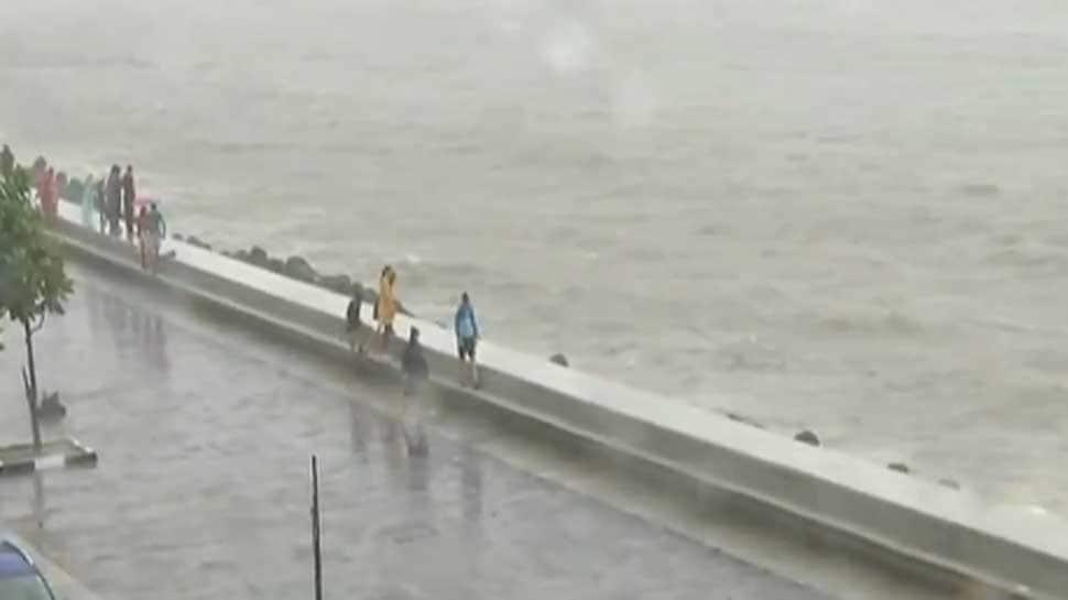 Watch: High tide in Mumbai as city reels under heavy rain
