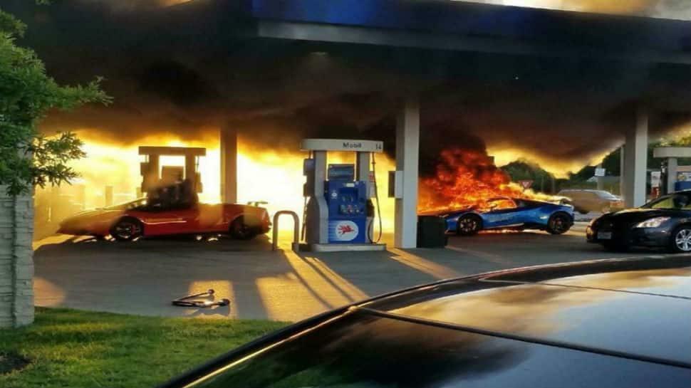 Lamborghini Performante worth crores charred in gas station fire