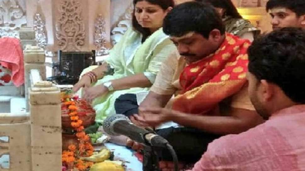 UP minister Nand Gopal Gupta who was attacked with remote bomb performs pooja to mark his 'rebirth'