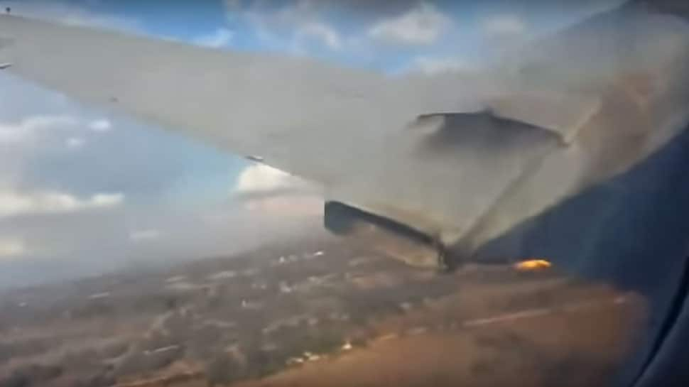 Plane catches fire, hits the ground, passenger records final moments before crash - Watch