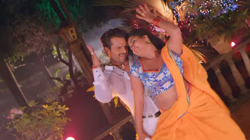 Khesari Lal Yadav and Kajal Raghwani's sizzling chemistry in Sarso ke Sagiya is a must watch