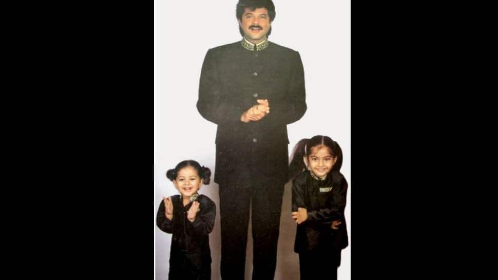 #ThrowbackThursday: When little Sonam Kapoor twinned in black with daddy Anil Kapoor and Rhea Kapoor