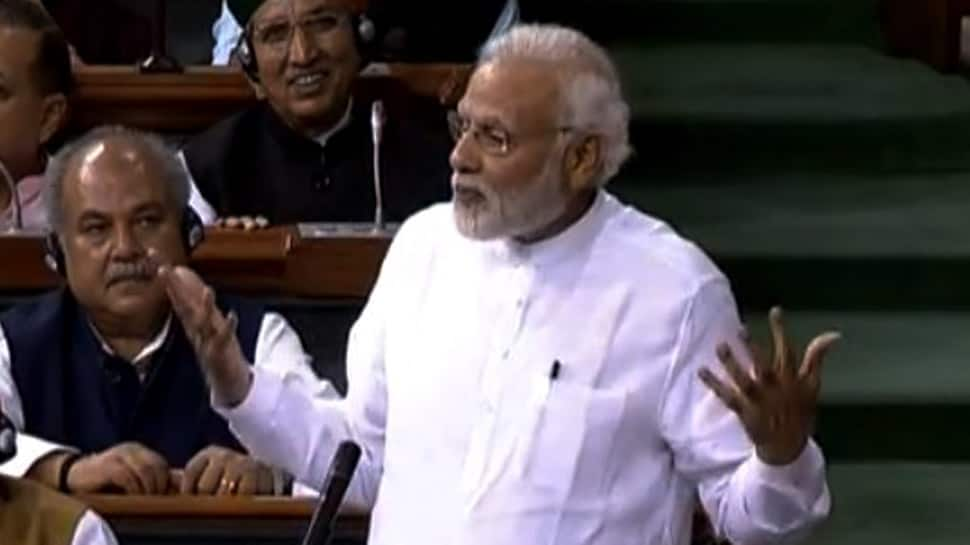 No confidence motion a result of their sheer arrogance: PM Narendra Modi goes on the offensive in Lok Sabha
