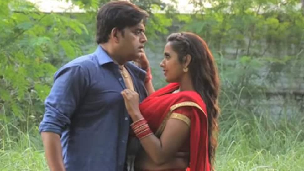Bhojpuri superstar Ravi Kishan and Kajal Raghwani's romantic song shoot—Watch
