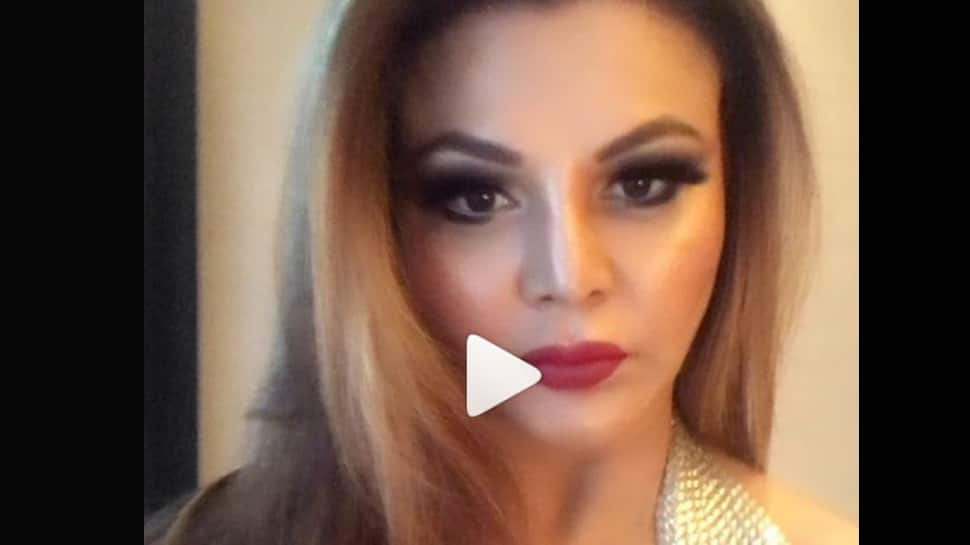 Rakhi Sawant's silver ensemble for Bhojpuri nights will leave you awestruck-Watch