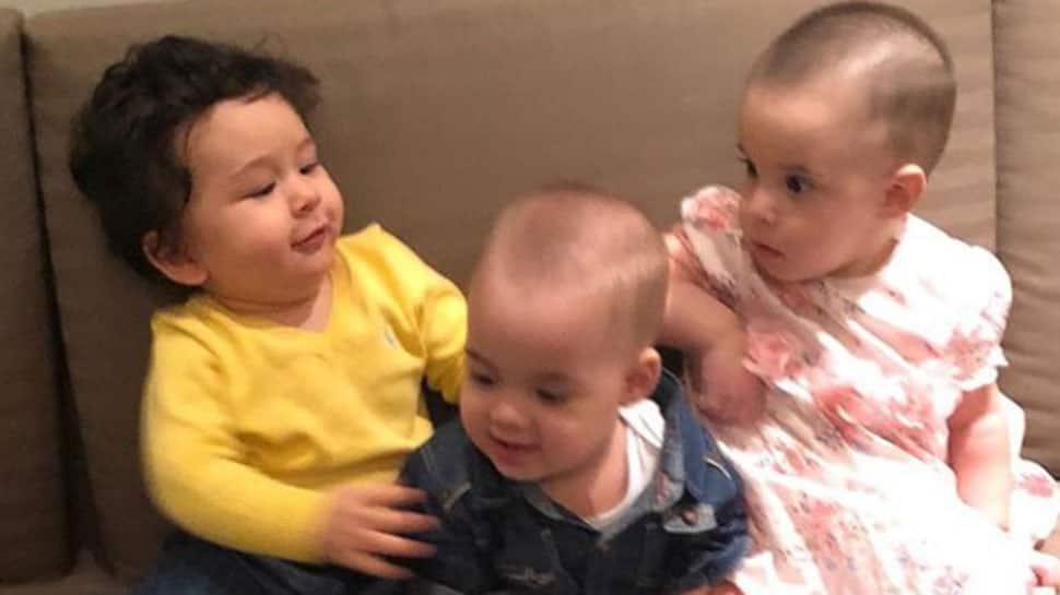 Taimur Ali Khan's play date video with Karan Johar's twins Yash and Roohi is too cute to miss—Watch
