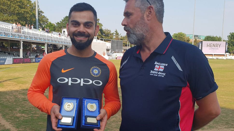 The Barmy Army names Kohli as International Player of the Year for 2017, 2018