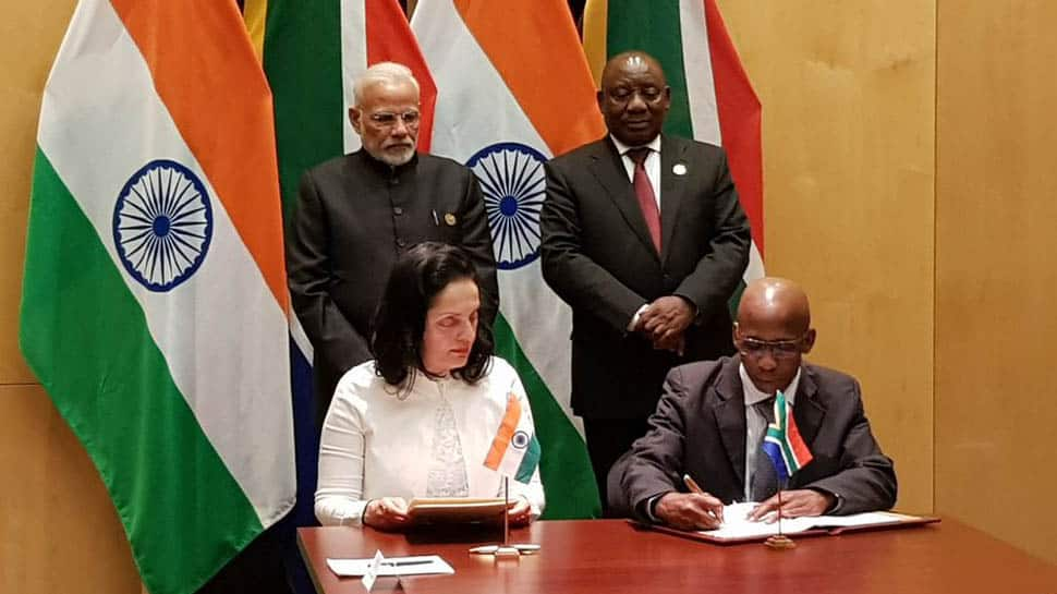 India, South Africa sign 3 MoUs, including one for cooperation in space