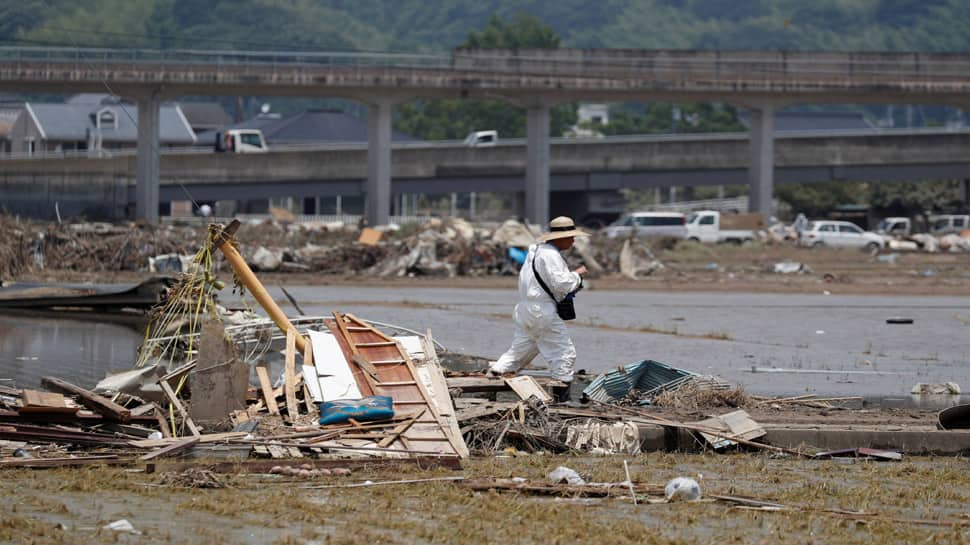 Japan braces as strong typhoon bears down, flood-hit areas at risk