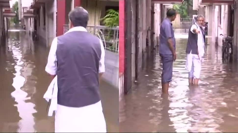 Bihar rains don't spare Sushil Modi, area around residence gets waterlogged