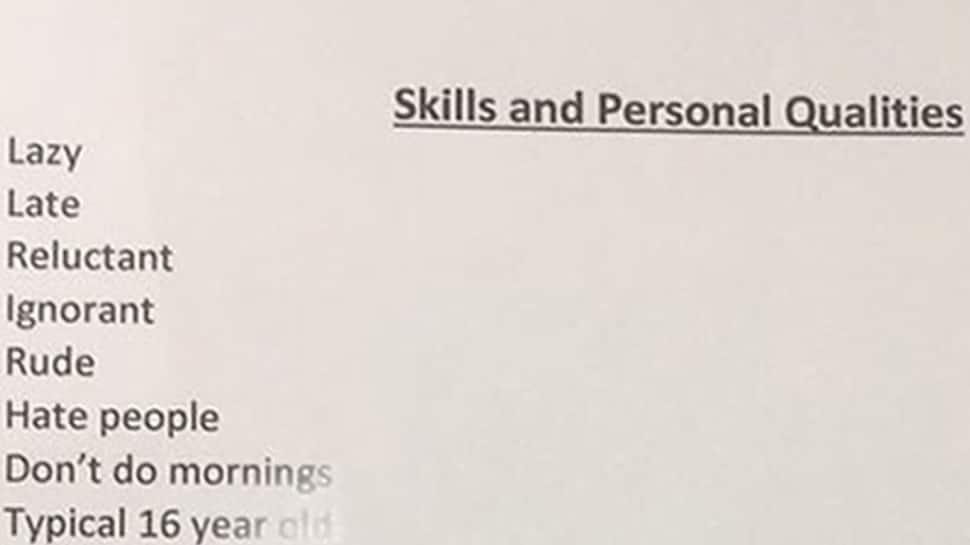 Dad's brutally honest CV for his daughter has left the internet in splits—See pics