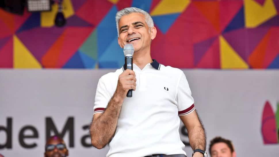 London mayor Sadiq Khan's bikini-clad balloon takes flight