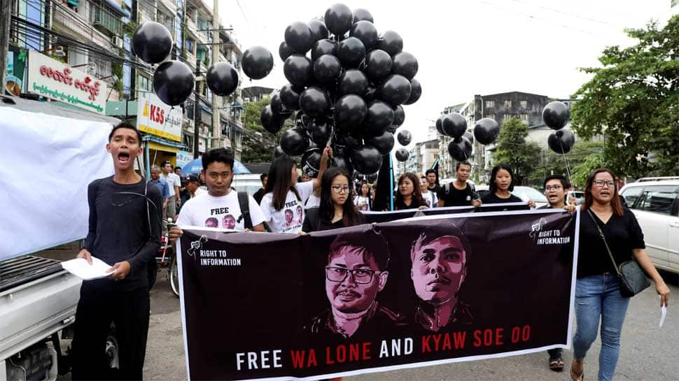 Two Reuters journalists sentenced to 7 years in jail in Myanmar for breaching law on state secrets