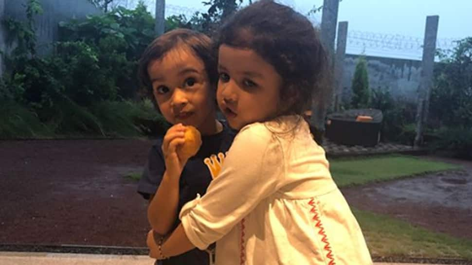 Ziva Dhoni and Ahil Sharma look cute as a button in these pics!