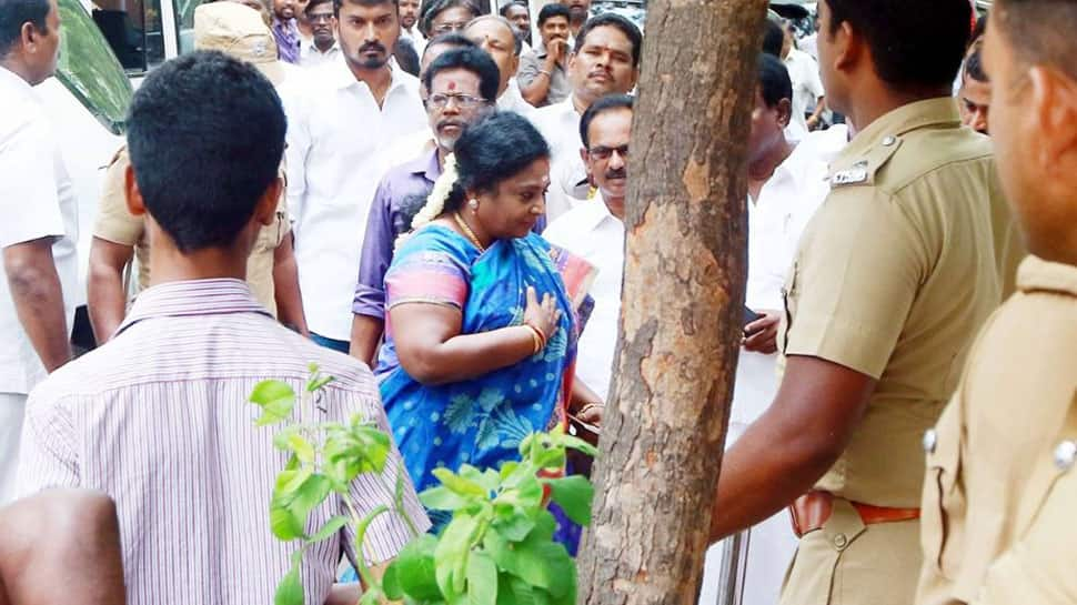 Woman held for shouting 'fascist BJP government down down' in front of party's Tamil Nadu chief Tamilisai Soundararajan