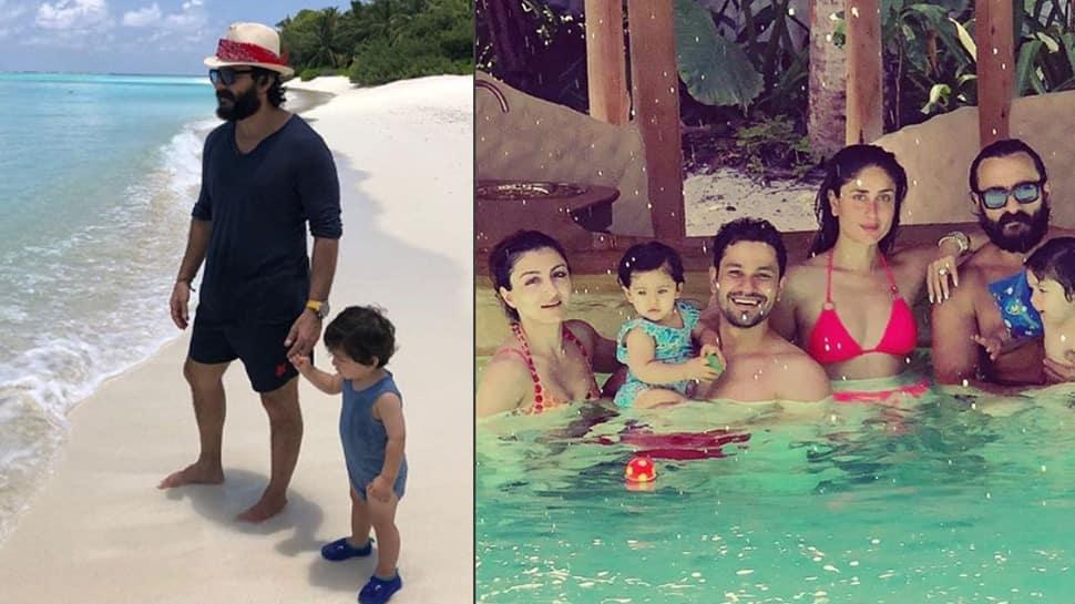 Saif Ali Khan and Taimur's latest pic proves that Pataudi fam jam loves beachy holidays!