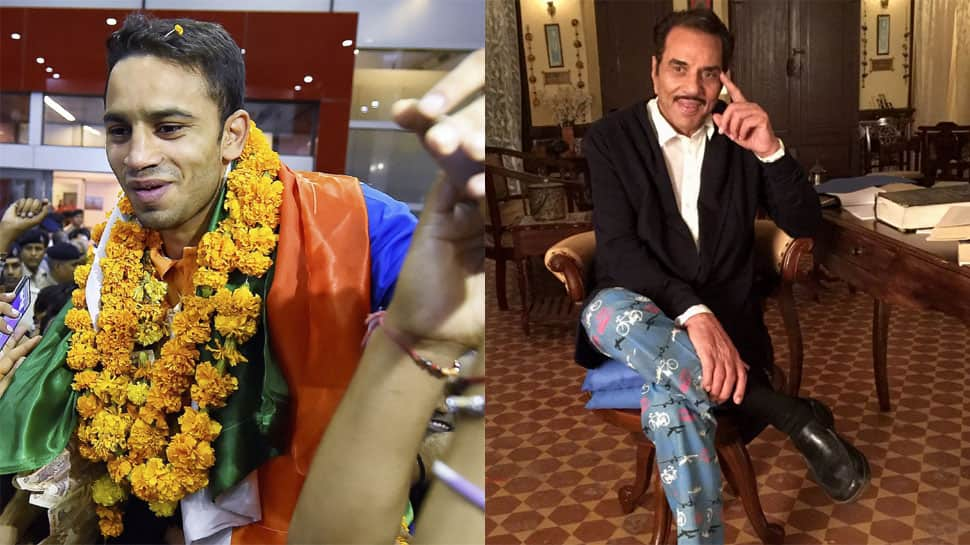 Asian Games 2018 Gold medalist Amit Panghal expresses his desire to meet Dharmendra; veteran actor posts adorable reply