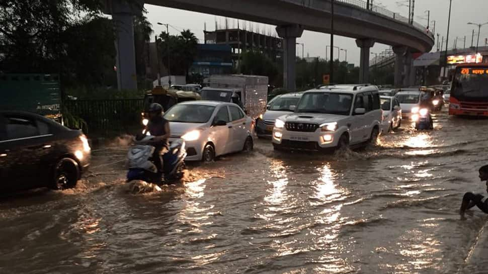 Respite from heat as heavy rainfall lashes Delhi-NCR, causes water-logging, traffic snarls