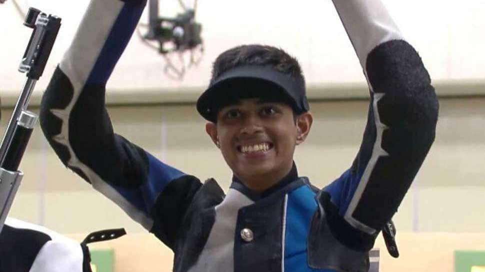 Hriday Hazarika wins gold in 10m Air Rifle Men's Category (Junior) at World Shooting Championship