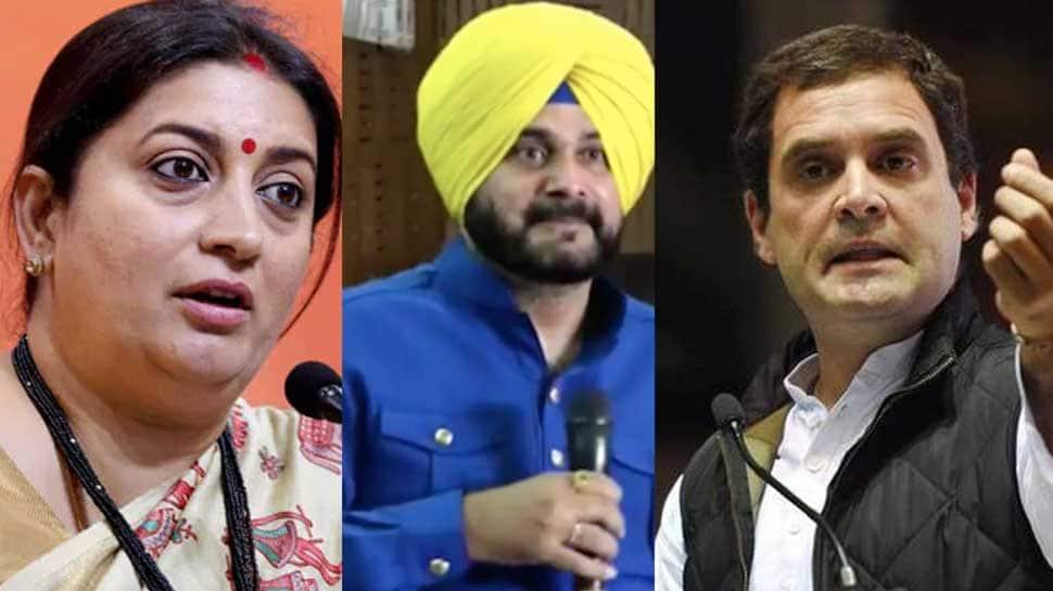 Smriti Irani attacks Congress, questions Rahul Gandhi's silence on Navjot Singh Sidhu's Pakistan trip