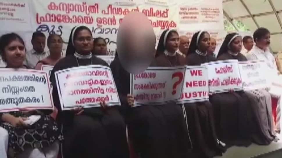 Protests in Kochi demanding arrest of Bishop accused of raping nun