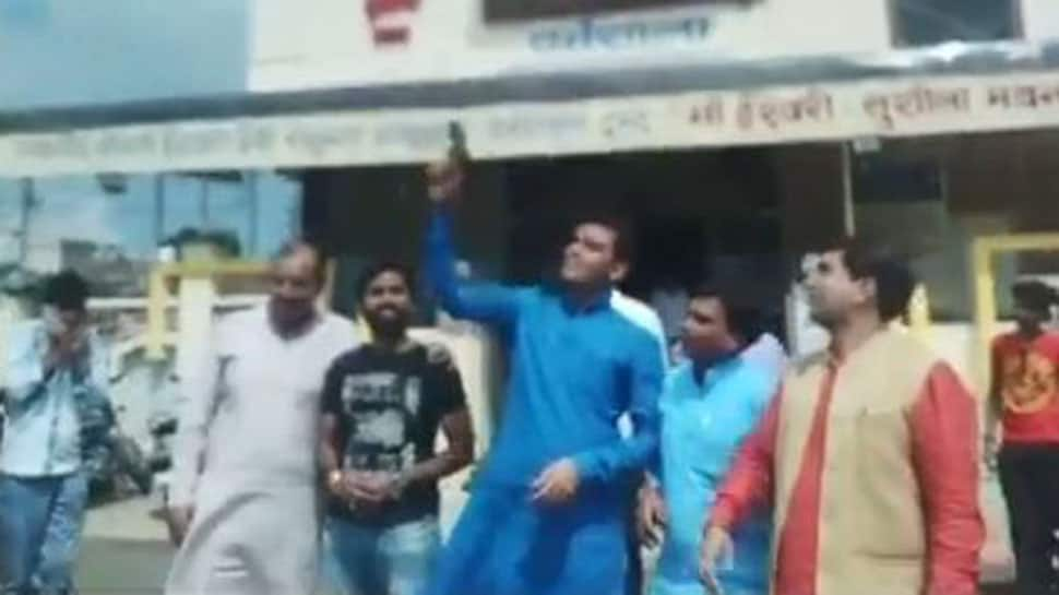 Watch: BJP youth wing leader in Madhya Pradesh fires celebratory shots, complaint filed