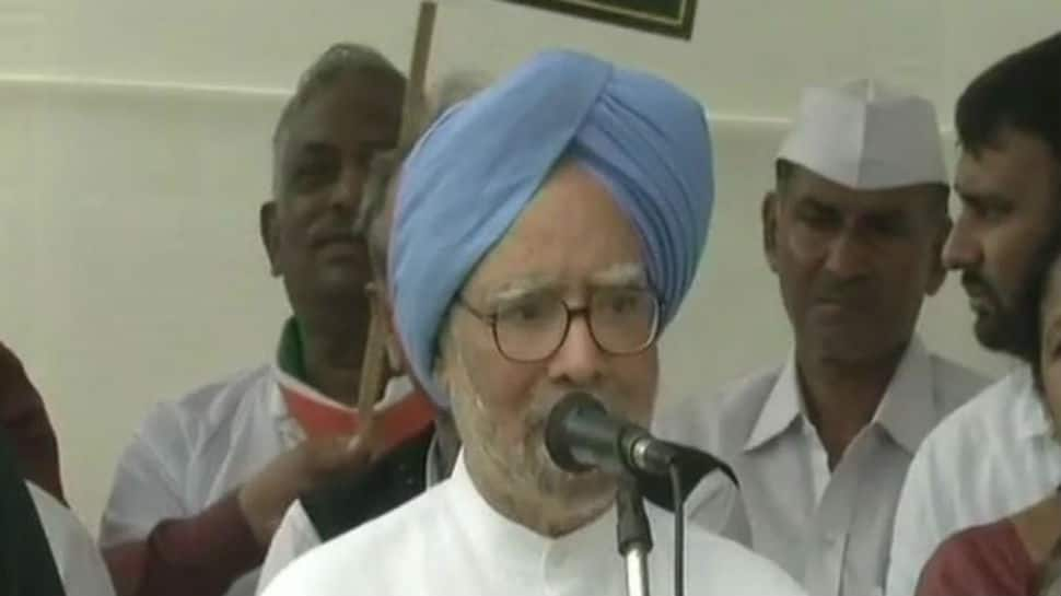 Time to change this government will come soon: Manmohan Singh at Bharat Bandh rally