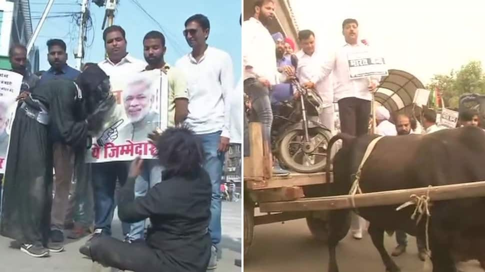 Bharat Bandh: 'Daayan' to bikes on bullock carts, Opposition's full-blown attack on Modi government