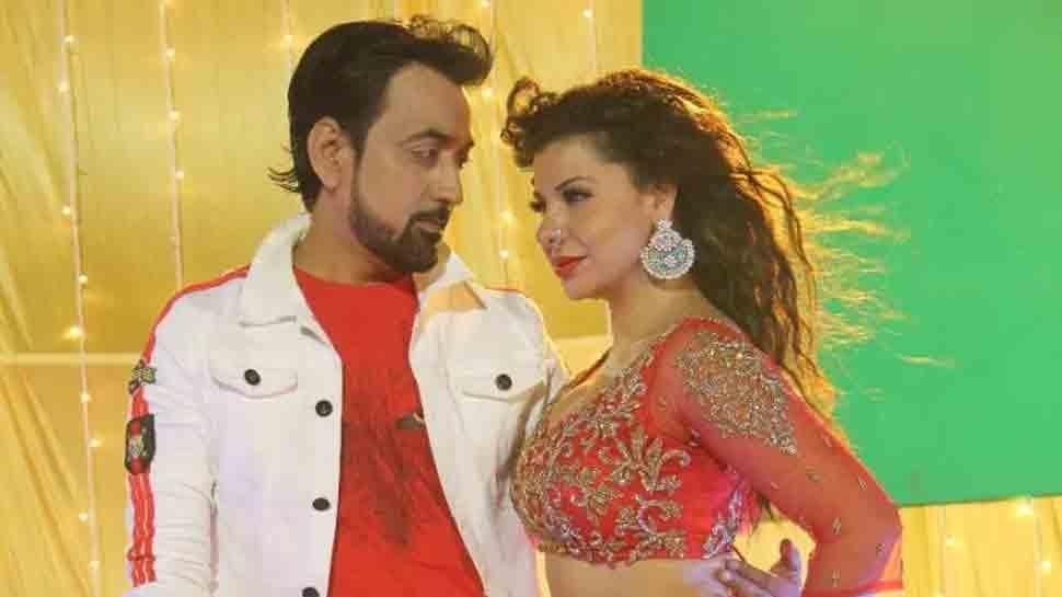 Sambhavna Seth shoots a sizzling dance number with Bhojpuria Sultan Raju Mahi