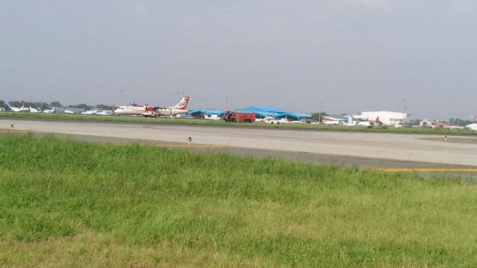 Alliance Air flight returns from runway after tyre burst
