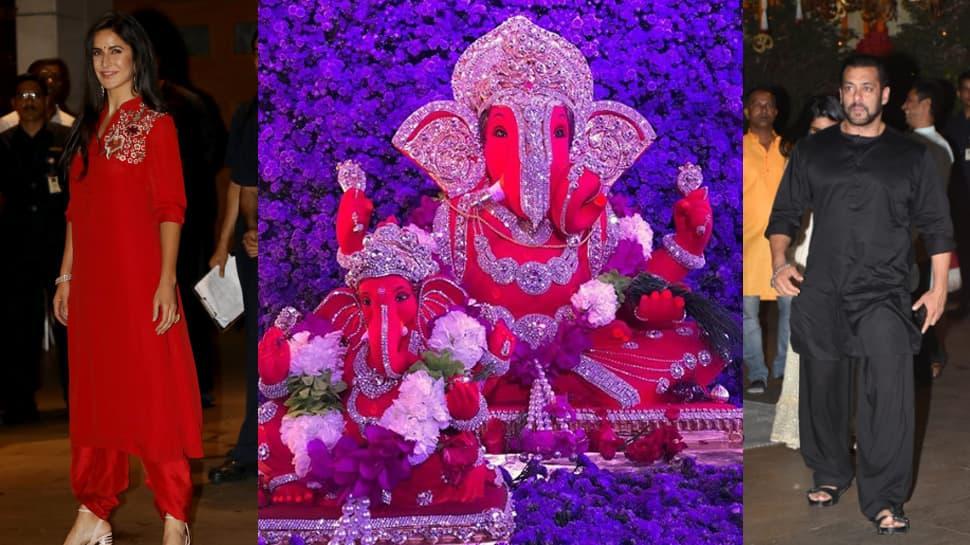 Ganesh Chaturthi 2018: Salman Khan, Katrina Kaif perform Ganpati aarti with entire Khan parivaar—Watch videos