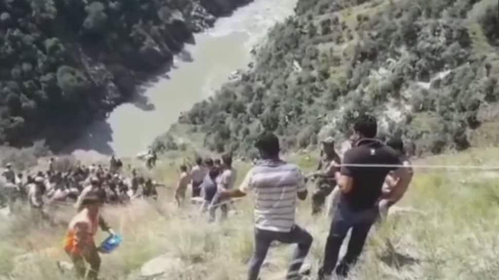 Jammu & Kashmir: At least 13 dead, several injured after mini bus falls in Chenab River