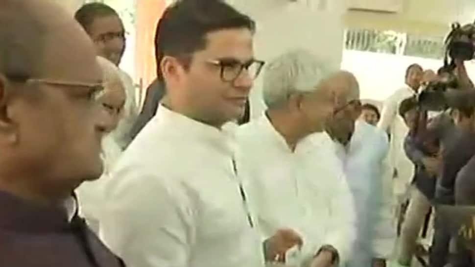 Prashant Kishor joins JDU in presence of Nitish Kumar