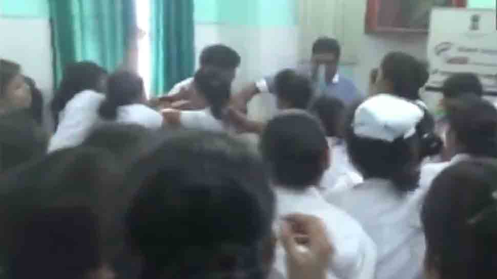 Nurses thrash doctor in Bihar hospital for allegedly molesting trainee nurse - Watch