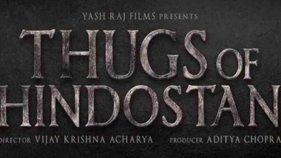 Aamir Khan's magnum opus Thugs of Hindostan logo poster out — Watch