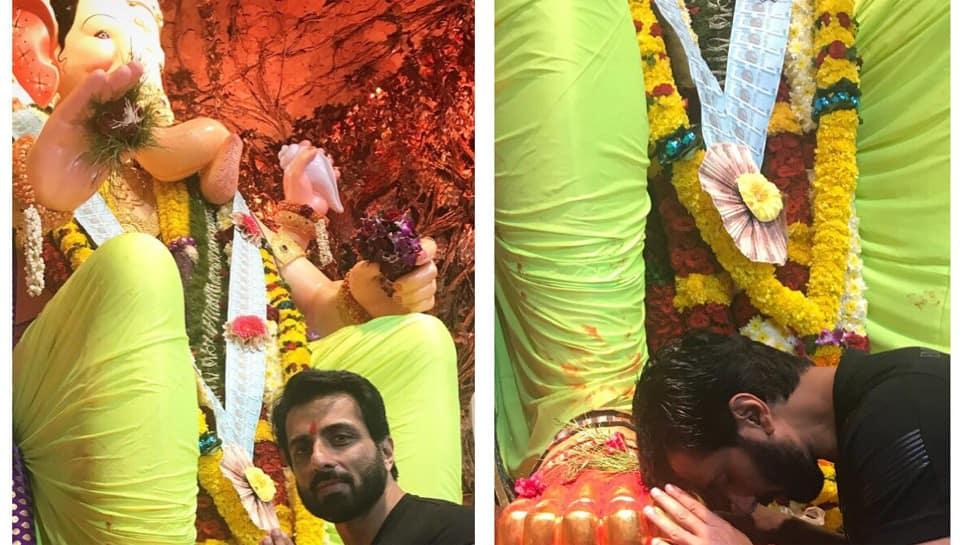 Sonu Sood visits Lalbaugcha Raja, seeks divine blessings—See pic